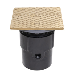 """038753841472_H_001.jpg - Oatey® 3"""" or 4"""" ABS General Purpose Cleanout w/ 6"""" BR Cover & Square Ring"""