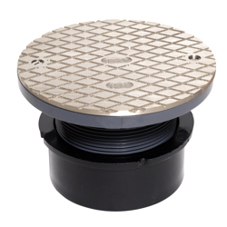 """038753841595_H_001.jpg - Oatey® 4"""" ABS Hub Base General Purpose Cleanout w/ 6"""" NI Cover"""