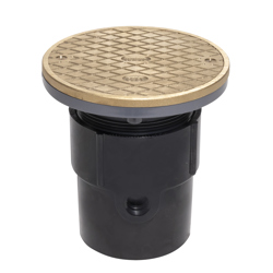 """038753841670_H_001.jpg - Oatey® 3"""" or 4"""" ABS General Purpose Cleanout w/ 6"""" NI Cover & Round Ring"""