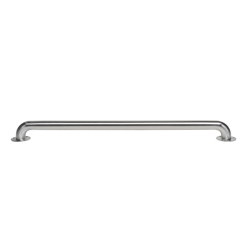 """041193008657_H_001.jpg - Dearborn® 1-1/2"""" x 32"""" Stainless Steel Grab Bar w/ Exposed Flange, Satin Finish"""