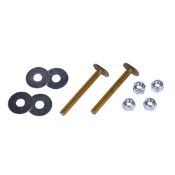 """Harvey™ 1/4"""" X 2 1/4"""" BRASS TOILET BOLT DOUBLE NUTS AND WASHERS"""