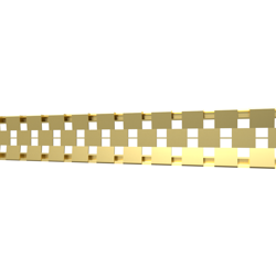 10_Linear_Covers_Cosmo_Brushed_Gold_Small_H_001.png - QuickDrain Linear Drain 18 in. Cosmo Cover in Brushed Gold