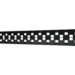 10_Linear_Covers_Cosmo_Matte_Black_Small_H_001.png - QuickDrain Linear Drain 18 in. Cosmo Cover in Matte Black