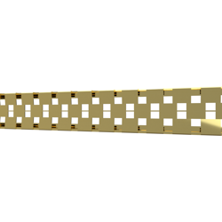 10_Linear_Covers_Cosmo_Polished_Gold_Small_H_001.png - QuickDrain Linear Drain 32 in. Cosmo Cover in Polished Gold