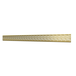 10_Linear_Covers_Stones_Brushed_Gold_Medium_H_001.png - QuickDrain Linear Drain 40 in. Stones Cover in Brushed Gold