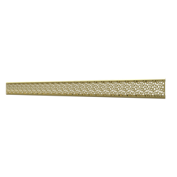 10_Linear_Covers_Stones_Polished_Gold_Medium_H_001.png - QuickDrain Linear Drain 40 in. Stones Cover in Polished Gold