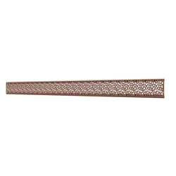 10_Linear_Covers_Stones_Polished_Rose_Gold_Medium_H_001.png - QuickDrain Linear Drain 40 in. Stones Cover in Polished Rose Gold