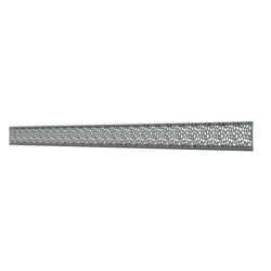 10_Linear_Covers_Stones_Polished_Stainless_Steel_Medium_H_001.png - QuickDrain Linear Drain 40 in. Stones Cover in Polished Stainless Steel