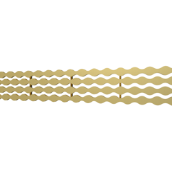 10_Linear_Covers_Stream_Brushed_Gold_Small_H_001.png - QuickDrain Linear Drain 32 in. Stream Cover in Brushed Gold