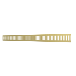 10_Linear_Covers_Vertical_Brushed_Gold_Medium_H_001.png - QuickDrain Linear Drain 40 in. Vertical Cover in Brushed Gold