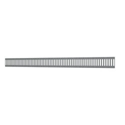 10_Linear_Covers_Vertical_Brushed_Stainless_Steel_Large_H_001.png - QuickDrain Linear Drain 56 in. Vertical Cover in Matte Black