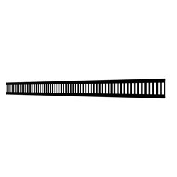 10_Linear_Covers_Vertical_Polished_Black_Medium_H_001.png - QuickDrain Linear Drain 40 in. Vertical Cover in Polished Black