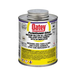 Oatey® 16 oz. CPVC All Weather Flowguard Gold® 1-Step Yellow Cement with Ultraviolet Indicator
