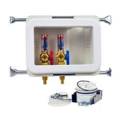 38480.jpg - Oatey® Fire Rated, 1/4 Turn, F1807, Hammer - Washing Machine Outlet Box, Standard Pack