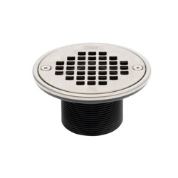 42283.jpg - Oatey® ABS Round Barrel Only Polished Stainless Steel Screw-In Strainer with Ring