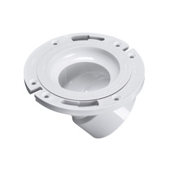 43816_h.jpg - Oatey® 3 in. or 4 in. PVC 45° Closet Flange with Plastic Ring without Test Cap
