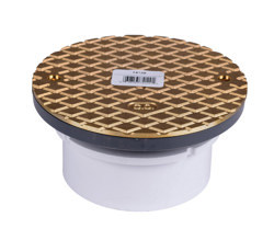 """74129_h.jpg - Oatey® 4"""" PVC Hub Base General Purpose Cleanout w/ 6"""" BR Cover"""