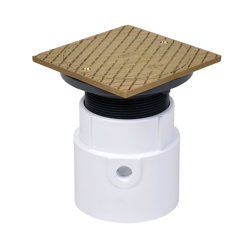 """74148_h.jpg - Oatey® 4"""" PVC Pipe Base General Purpose Cleanout w/ 6"""" BR Cover & Square Ring"""