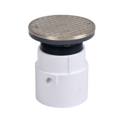 """74168_h.jpg - Oatey® 4"""" PVC Pipe Base General Purpose Cleanout w/ 6"""" NI Cover & Round Ring"""