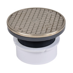 """74169_h.jpg - Oatey® 4"""" PVC Hub Base General Purpose Cleanout w/ 6"""" NI Cover & Round Ring"""