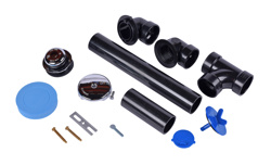 Dearborn® Full Kit, Schedule 40 – ABS Touch-Toe Stopper w/ Chrome Finish Trim