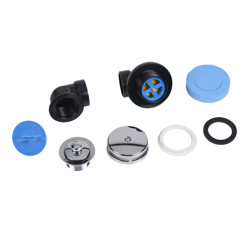 Dearborn® DBlue Half Kit, Schedule 40 - ABS Uni-Lift Stopper w/ Chrome Finish Trim and Test Plugs