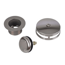 Dearborn® DBlue Trim Kit, for Schedule 40 - Rough-In Kit Touch-Toe Stopper w/ Brushed Nickel Finish Trim