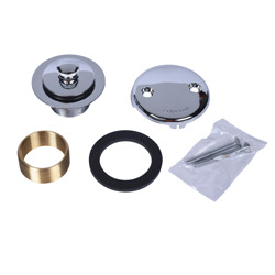 Dearborn® Conversion Kit, w/Two-Hole Cover Plate, Uni-Lift Stopper w/ Chrome Finish Trim