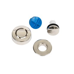 Dearborn True Blue Trim Kit, Touch Toe Stopper, Brushed Nickel