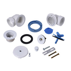 Dearborn® Half Kit, Schedule 40 - PVC Uni-Lift Stopper w/ White Finish Trim and Test Plugs
