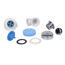Dearborn® DBlue Half Kit, Schedule 40 - PVC Touch-Toe Stopper w/ Chrome Finish Trim and Test Plug