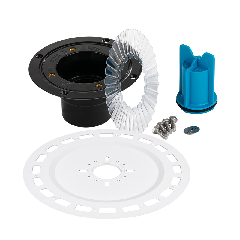 038753016788_H_001.jpg - QuickDrain SquareDrain Large Universal Flange Adaptor Full Kit with ABS Drain Assembly and Accessories