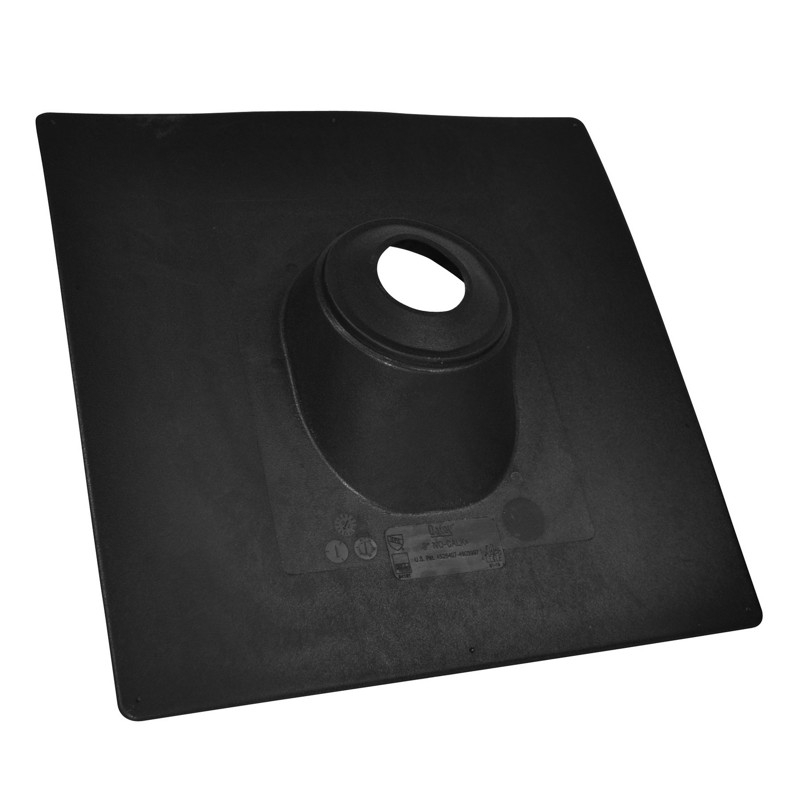 "038753118895_H_001.jpg - Oatey® No-Calk® 1.25"" – 1.5"" Thermoplastic Roof Flashing 18"" x 18"" Base"