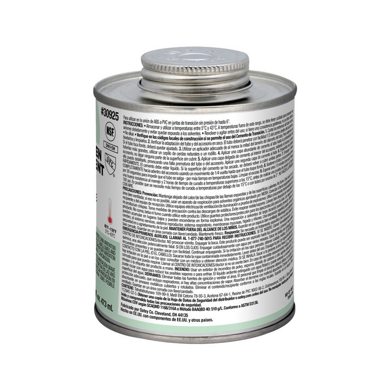 038753309255_I_001.jpg - Oatey® 16 oz. ABS To PVC Transit Green Cement