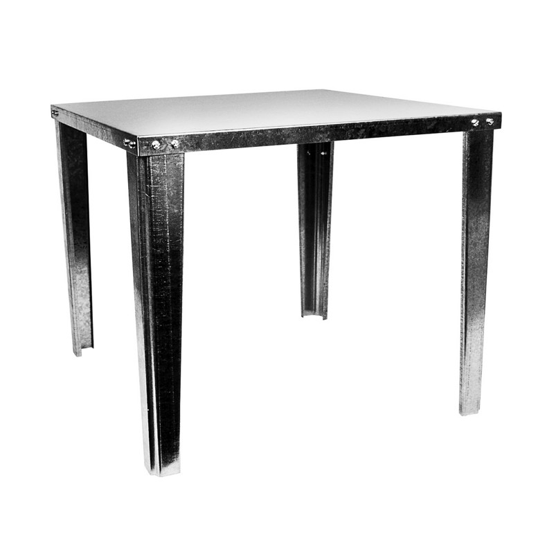 038753340579_H_001.jpg - Oatey® 21 in. Square x 18 in. High Galvanized Water Heater Stand