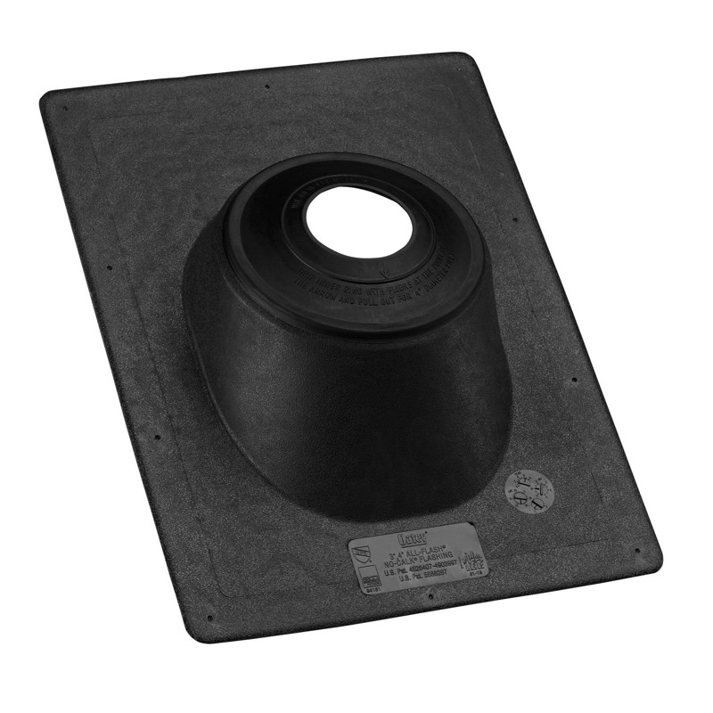 11919.jpg - Oatey® 1.5 in. – 3 in. Thermoplastic All-Flash® No-Calk 11.25 in. x 15 in. Base Roof Flashing