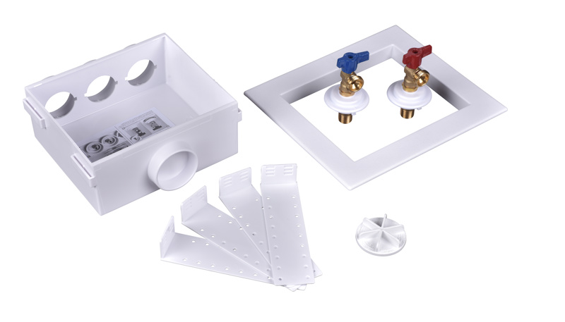 38529_h.jpg - Oatey® Quadtro, 1/4 Turn, Compression, Washing Machine Outlet Box – Standard Pack