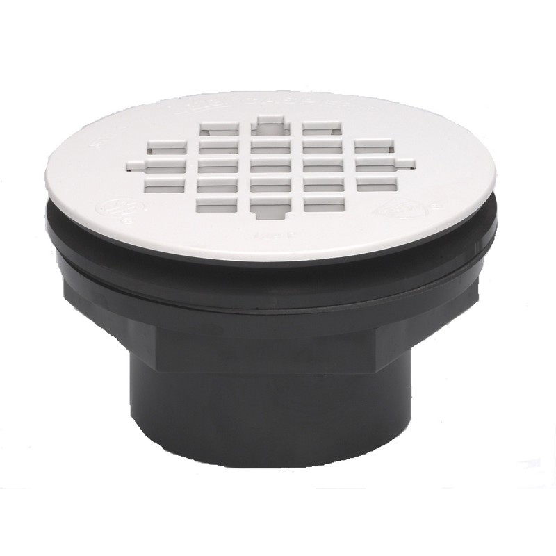 42089.jpg - Oatey® 2 in. 101 PS PVC Solvent Weld Shower Drain with Plastic Strainer