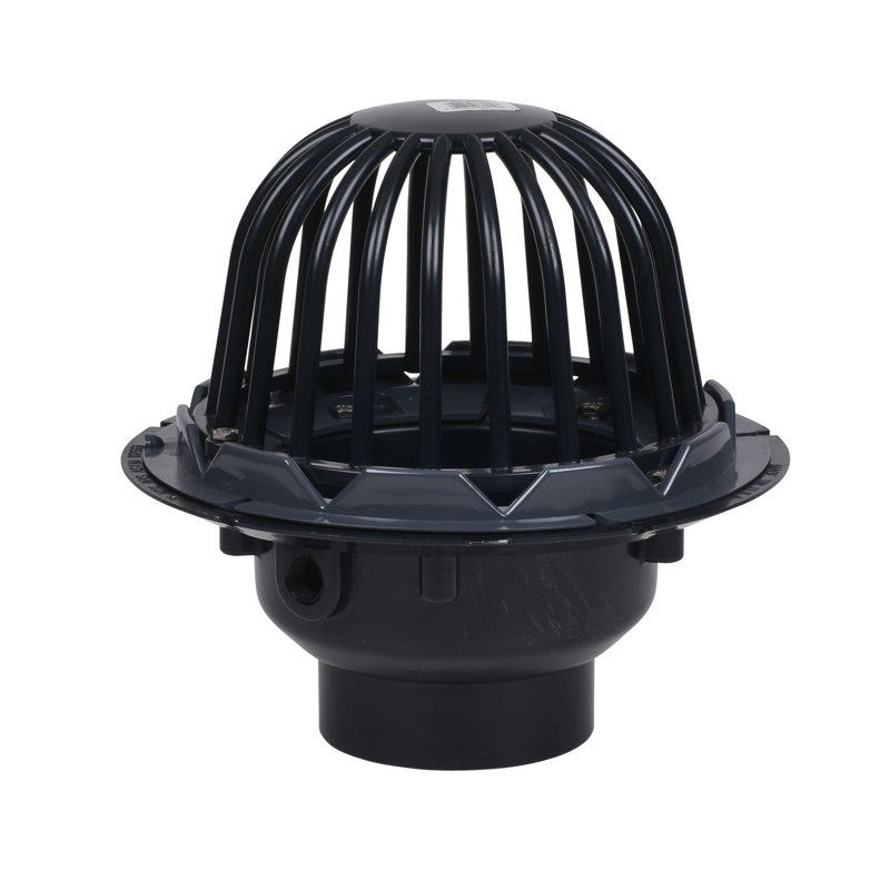 """88014_h.jpg - Oatey® 3"""" or 4"""" ABS Roof Drain w/ ABS Dome & Dam Collar"""