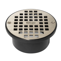 038753436005_H_001.jpg - Oatey® 3 in. or 4 in. ABS General Purpose Drain with  5 in. Nickel Alloy Grate