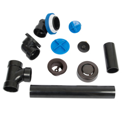 041193462121_H_001.jpg - Dearborn® True Blue® ABS Full Kit, Push n' Pull Stopper, with Test Kit, Oil Rubbed Bronze, Finished Drain Spud