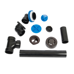 041193462206_H_001.jpg - Dearborn® True Blue® ABS Full Kit, Uni-Lift Stopper, with Test Kit, Oil Rubbed Bronze, Finished Drain Spud