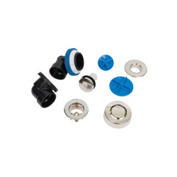 A9950BNX.jpg - Dearborn® True Blue® ABS Half Kit, Touch Toe Stopper, with Test Kit, Brushed Nickel